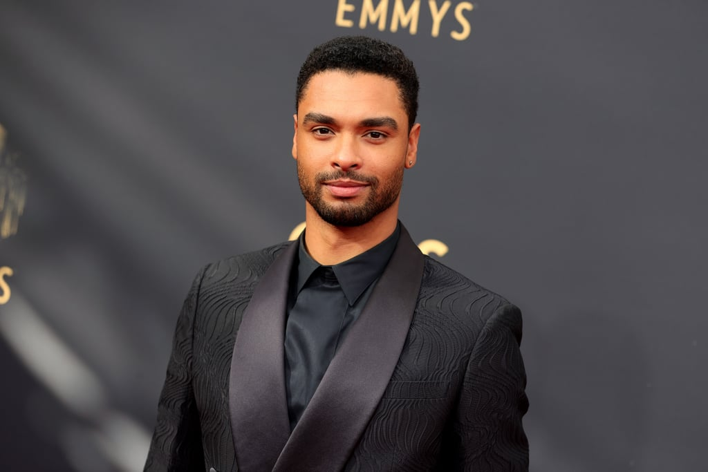 Regé-Jean Page is at the Emmys — we repeat: Regé-Jean Page is at the Emmys. On Sunday, the Bridgerton star attended the ceremony for the first time ever looking dapper in an all-black ensemble. Upon his arrival, Regé channelled his inner Duke of Hastings as he flashed his signature smoulder for the cameras.  Regé is nominated for outstanding lead actor in a drama series for his portrayal of the swoon-worthy Simon Basset on Bridgerton, marking his first-ever Emmy nomination. Of course, the nod is bittersweet as Regé won't be returning for season two of the hit Netflix series. However, he does have a few exciting movie projects in the works, including The Gray Man with Ryan Gosling and Chris Evans and Dungeons & Dragons with Chris Pine, Michelle Rodriguez, and Justice Smith. Ahead, see every photo we could find of Regé at the Emmys.
