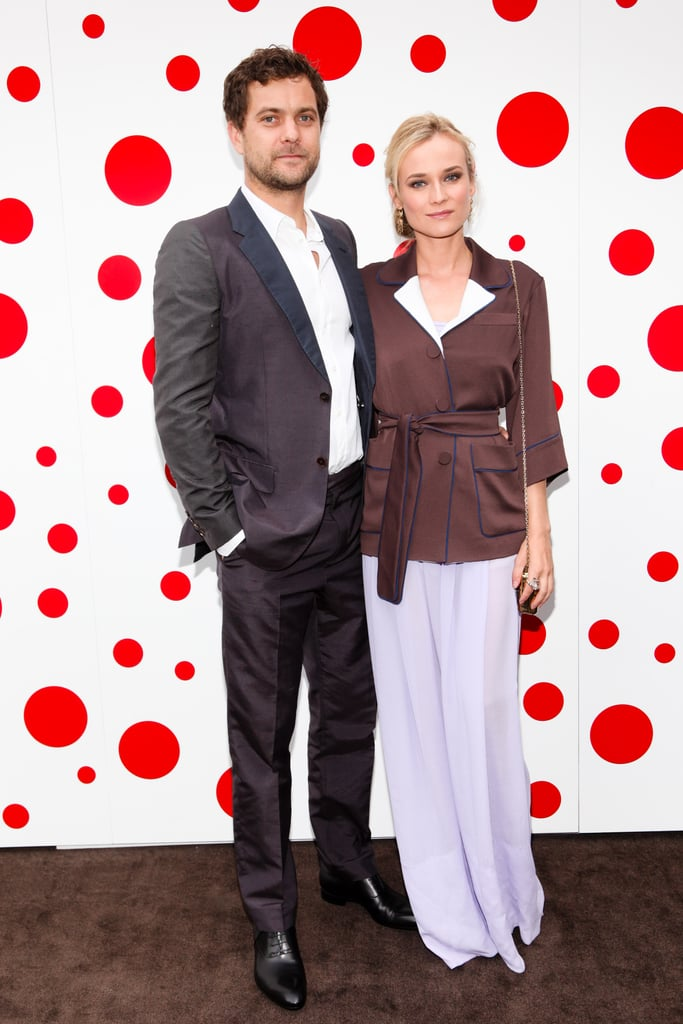 "Diane Kruger swung by Sirius XM in NYC yesterday to chat about her new movie, Farewell, My Queen, then changed into Louis Vuitton for a night out with her boyfriend, Joshua Jackson. The couple attended an event at the Whitney Museum to celebrate the launch of Louis Vuitton's collaboration with Yayoi Kusama, a Japanese artist known for her colorful prints. Diane and Josh mingled at the bash with other stylish stars like Dianna Agron, Sofia Coppola, and Margherita Missoni. There was a cocktail hour and dinner following the photocall, allowing Diane to catch up with other friends like British actress Alice Eve, as well as Margherita and Dianna.  The arty bash came after the NYC premiere of Farewell, My Queen on Monday. At the screening, Josh talked about seeing Diane all done up as Marie Antoinette while she was making the movie. He said, ""I definitely made the effort to go see her in the full queen regalia. It's a one-time thing in an actor's life. It was sexy — period, full stop. I mean, it was kind of a kinky fetish thing with the wigs and the corsets. I don't know how [people] survived that period. Foreplay must've been a sonofab*tch. It takes a nation of millions to get those things on and off."" Getty and Will Ragozzino/BFAnyc.com"