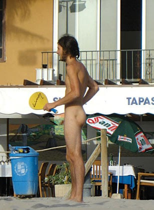 Naked Paddle Ball