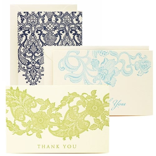 The Card Shop: Lace Thank-You Notes