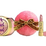 Too Faced Peach Tinsel Loose Sparkling Part Powder and Lipstick Set