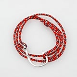 Miansai's sporty hook rope bracelets would be the perfect accompaniment to a white crochet dress and straw hat combo.  Miansai Red Hook Bracelet ($55)
