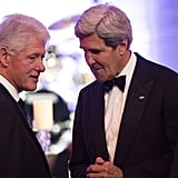 Former President Bill Clinton mingled with John Kerry at the gala that night.