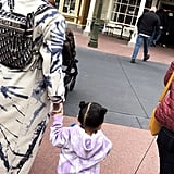 Kylie Jenner and Baby Stormi Webster Holding Hands at Walt Disney World