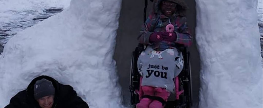 Dad Builds Wheelchair-Accessible Igloo For His Kids