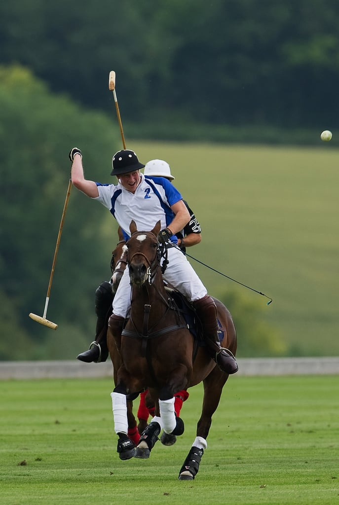 Sporty Prince Harry Takes the Polo Field For Charity