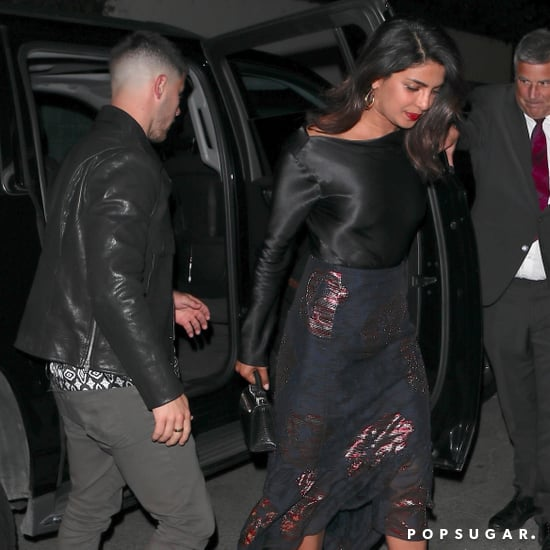 Priyanka Chopra's Black Date-Night Outfit With Nick Jonas
