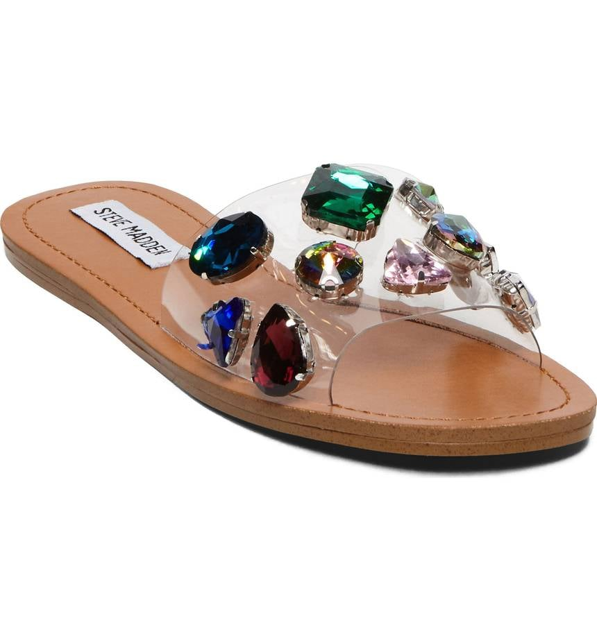dfe0571a735 Steve Madden Rosalyn Embellished Slide Sandals   Ready to Fill Your ...