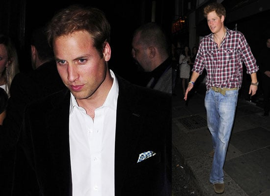 Photos of Prince William and Prince Harry Clubbing