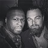 Nope, 50 Cent and Leonardo DiCaprio aren't too cool to take a selfie at a party. The pair huddled together in this 2015 snap.