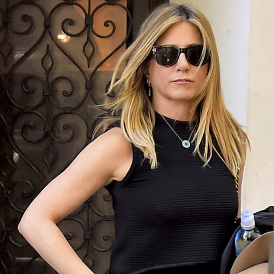 Jennifer Aniston's Evil-Eye Necklace in New York Sept. 2016