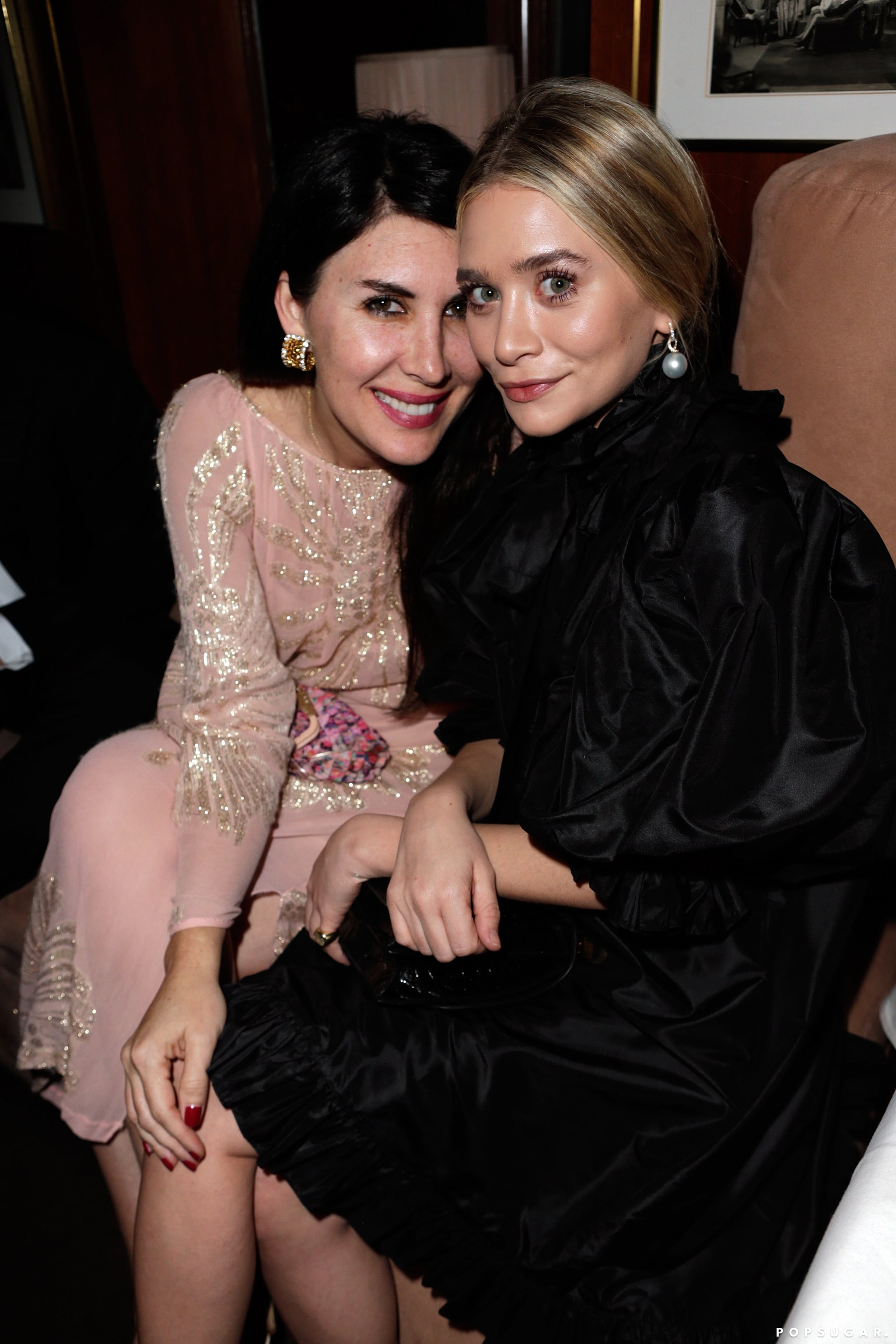 Ashley Olsen and stylist Estee Stanly sat together at Vanity Fair's Oscar after-party.