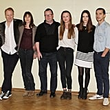 Stellan Skarsgard, Charlotte Gainsbourg, Lars von Trier, Mia Goth, Stacy Martin, and Shia LaBeouf  attended the Nymphomaniac photocall.