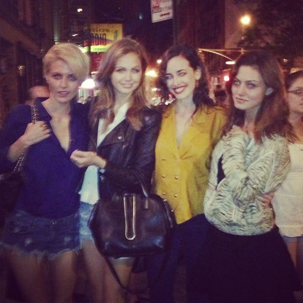 Aussie girls take New York! Luci Taffs, Ksenija Lukich, Sarah Stephens and Phoebe Tonkin made a good-looking group on the streets of NY. Source: Instagram user phoebejtonkin