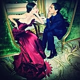 The artist and his muse. Source: Instagram user cocorocha