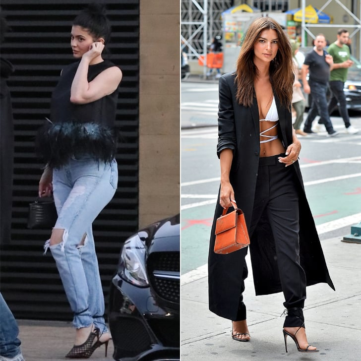Wearing Ankle Strap Heels Over Pants Is the New Trend 2019