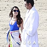 John Stamos and Lea Michele Kissing on Set December 2016