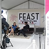 Feast, a new website from NBC, had a booth where Ben Leventhal interviewed different food personalities. Here, he's chatting with Gail Simmons.