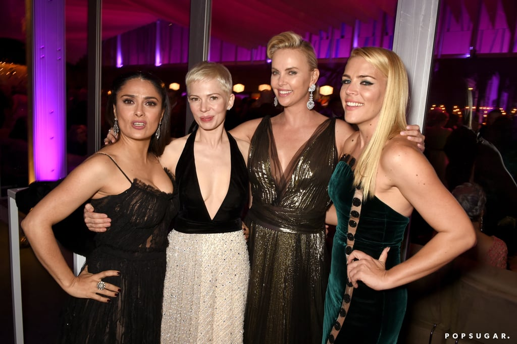 Pictured: Salma Hayek, Michelle Williams, Charlize Theron, Busy Philipps