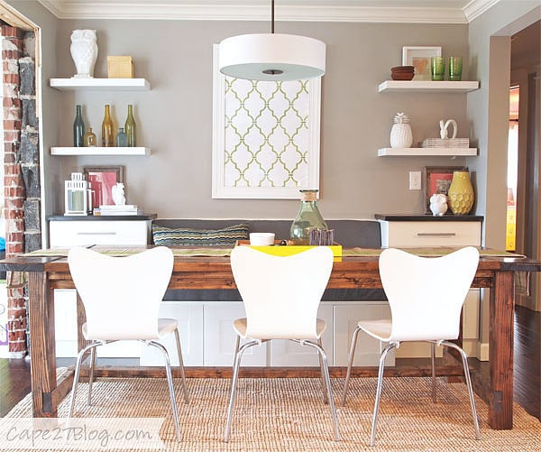 Diy Dining Room Storage Ideas: DIY A Cozy Dining Banquette