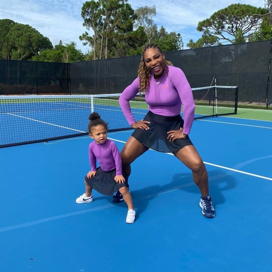 Watch Serena Williams Play Tennis With Daughter Alexis