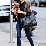 With practically everything she wears, Miranda Kerr incites envy. Case in point, the supermodel made her way around NYC in a perfectly sophisticated mix of trends and cool-girl staples, like her Givenchy satchel.