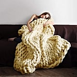 Knit Chunky Blanket Giant Throw