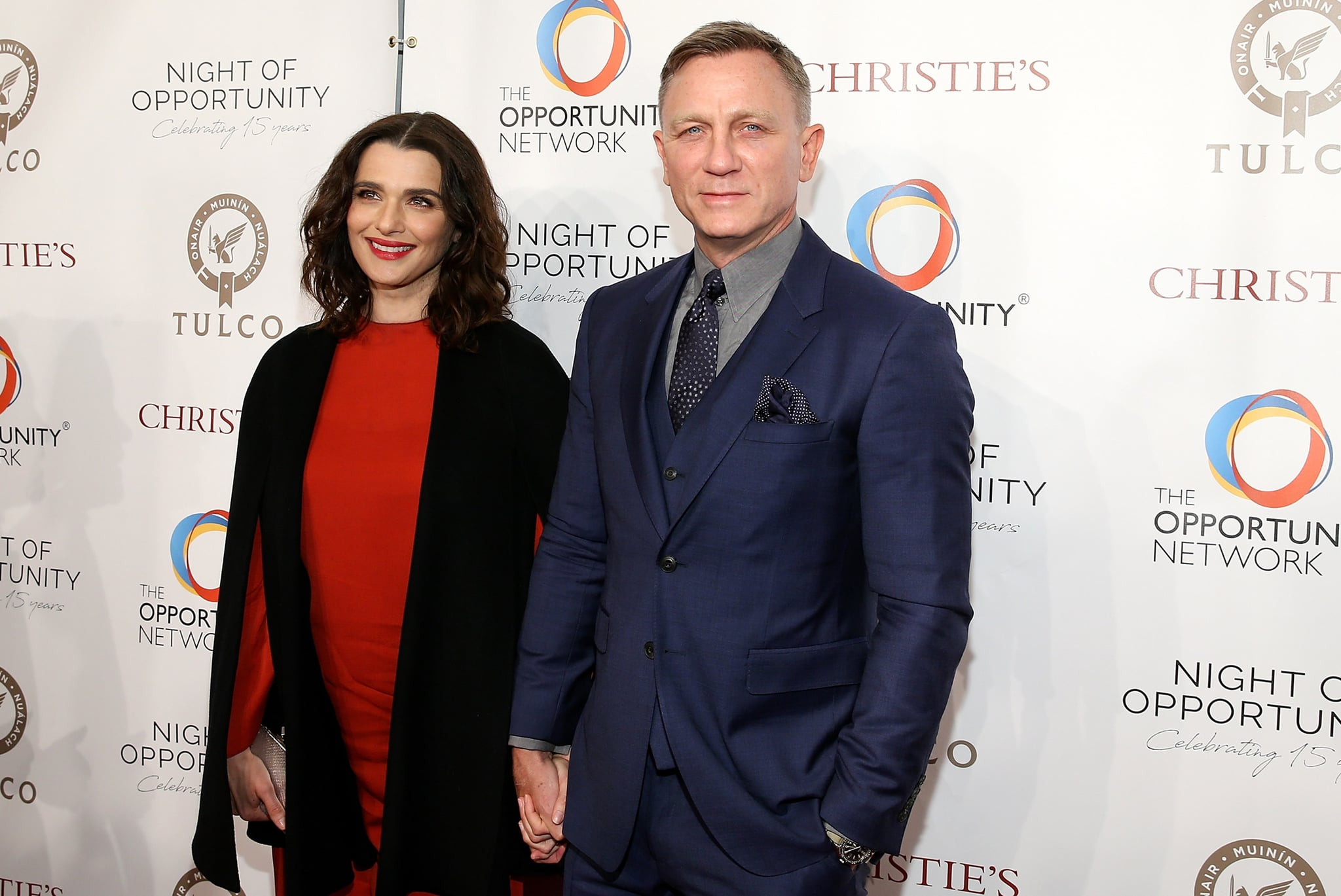 NEW YORK, NY - APRIL 09:  Actors Rachel Weisz and Daniel Craig attend the  Opportunity Network's 11th Annual Night of Opportunity at Cipriani Wall Street on April 9, 2018 in New York City.  (Photo by Bennett Raglin/WireImage)