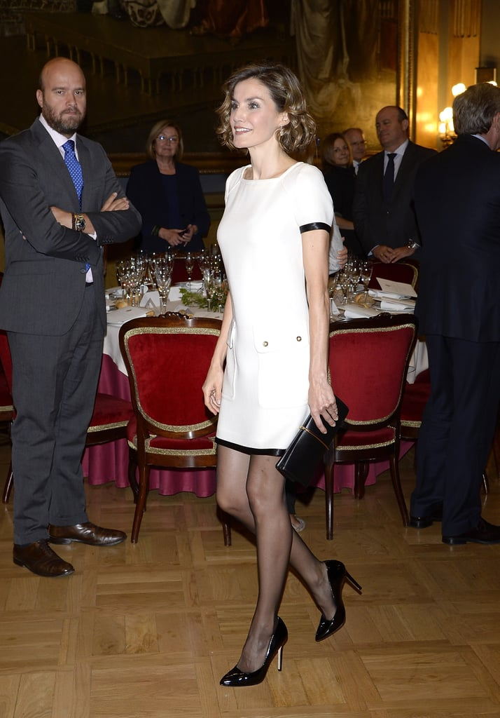 Forget the LBD —You'll Be the Centre of Attention in a Little White Dress and Black Tights