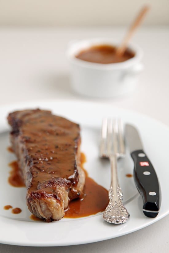 Steak With Miso Mustard Butter Sauce
