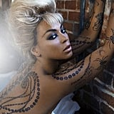 Pictures of Beyoncé Knowles's New Temporary Tattoos