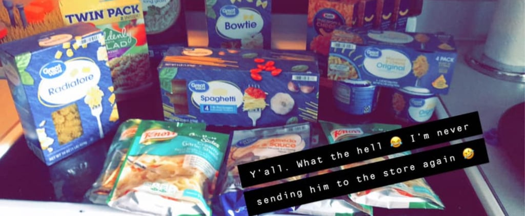 Wife's Funny Photos of What Husband Got Grocery Shopping