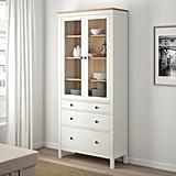 Hemnes Glass-Door Cabinet With Drawers