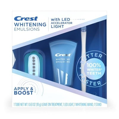 Crest Whitening Emulsions Leave-On Teeth Whitening Treatment With LED Accelerator Light