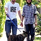 Robert Pattinson hangs out with best friend Tom Sturridge.