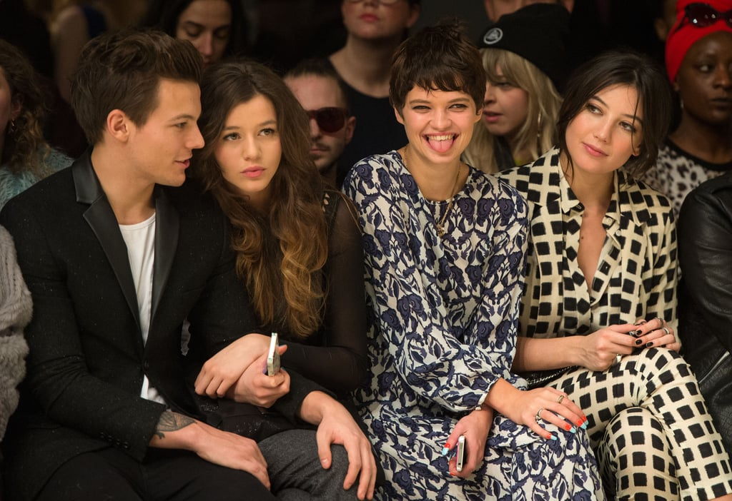 Louis Tomlinson and Eleanor Calder sat next to Pixie Geldof and Daisy Lowe at Topshop Unique's front row at London Fashion Week in February.