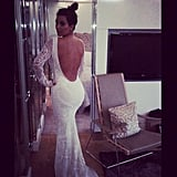 Kim K got the world talking when she posted this image of herself in a very bridal-looking Pucci gown. Source: Instagram user Kimkardashian