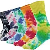 Colorful Tie-Dye Cotton Socks