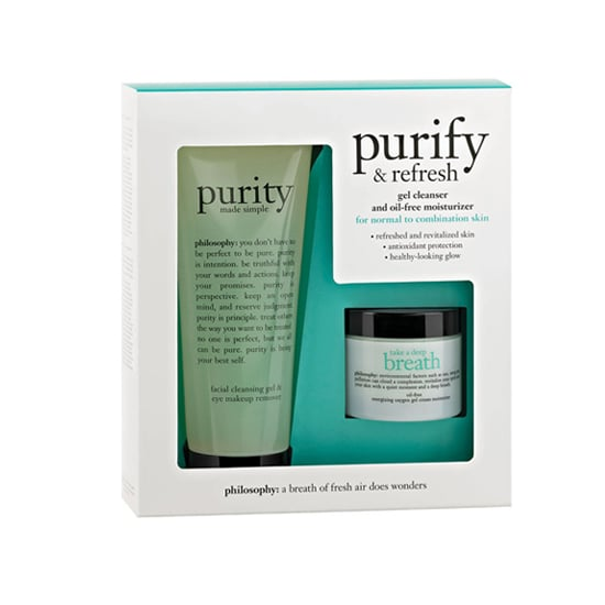 Skin care moms of the world will rejoice in Philosophy's Purify Refresh Kit ($43), which offers a healthy-looking glow.