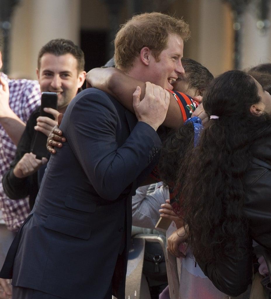 Hugging Harry