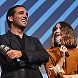 Real-life couple Bobby Cannavale and Rose Byrne giggled on stage at the SXSW festival, where they were promoting Adult Beginners.