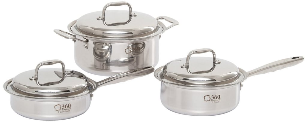 360 Cookware's 6-Piece Stainless Steel Cookware Set