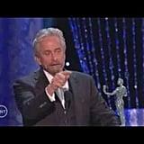 Michael Douglas Sprinkles His Speech With Dirty Jokes
