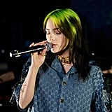 Billie Eilish's Neon-Green and Black Hair Before the Music Video