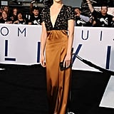 Olga Kurylenko wore Burberry at the Oblivion premiere in Hollywood.