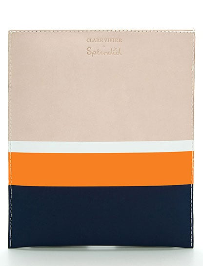 A clean take on bold stripes for the fashionphile, courtesy of Clare Vivier.  iPad Case by Clare Vivier For Splendid ($128)