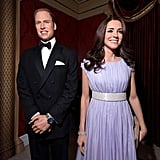 Wax Will and Kate were all smiles.