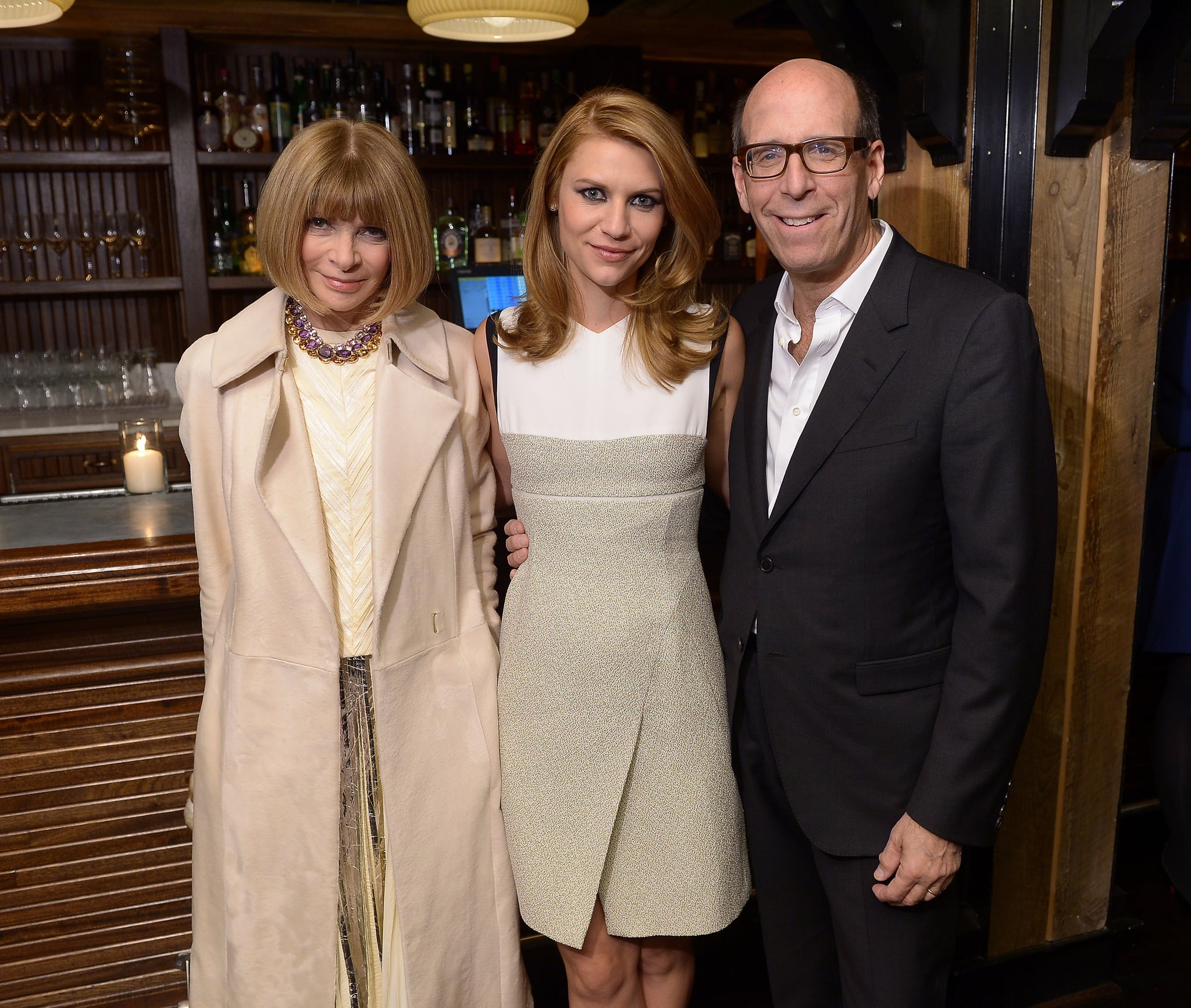 Anna Wintour, Claire Danes, and Matt Blank at Showtime's Homeland screening.