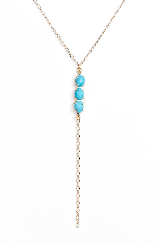 Bracha Esmeralda Lariat Necklace