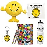 Mr Happy Showbag ($10) Includes:  Drink bottle  Plush toy  Book